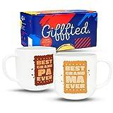Gifffted Tazze Coppia da tè E Caffe per Nonni, Biscotti, Regali per Le Coppie, Colazione, Idee...