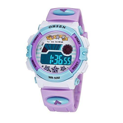 2fe62736106f Deporte Al aire libre Bicolor Reloj Digital Calendario Semana Alarma  Segundos Correa de silicona Relojes de