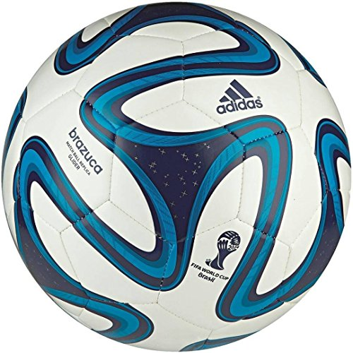 Larjonna Adidas brazuca blue/white replica Football. Size-5  available at amazon for Rs.538