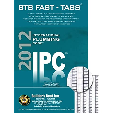 2012 International Plumbing Code (IPC) BTB Fast
