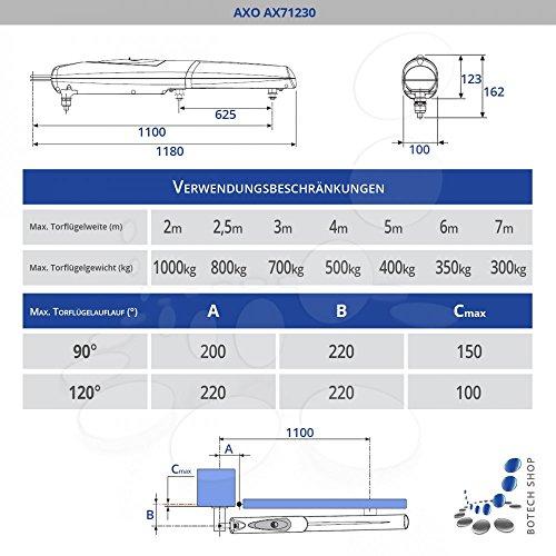 Drehtorantrieb CAME AXO AX71230/2 (Set M)