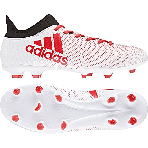 adidas Herren X 17.3 FG Fußballschuhe, Mehrfarbig (Ftwwht/Reacor/Cblack Cp9192), 41 1/3 EU (Herren-rasen-schuhe Fußball -)