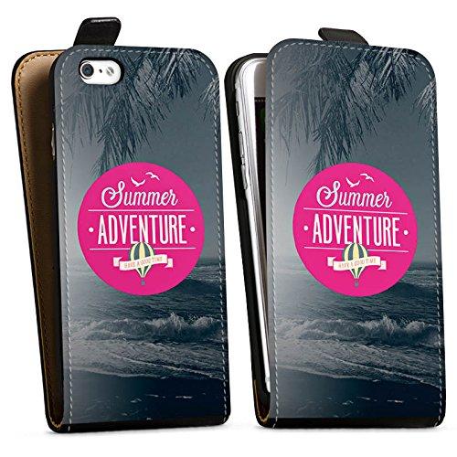 Apple iPhone X Silikon Hülle Case Schutzhülle Sommer Abenteuer Urlaub Downflip Tasche schwarz