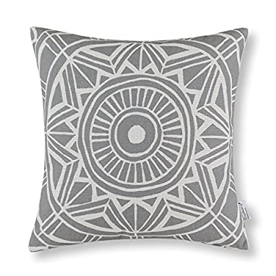Euphoria CaliTime Cushion Cover Throw Pillow Shell Compass Geometric - inexpensive UK light shop.
