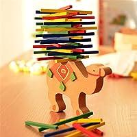 SODIAL Bebe Jouets Educatifs Chameau Equilibrage Des Blocs Jouets En Bois Bois Equilibre Jeu Montessori Blocs Cadeau Pour Enfant