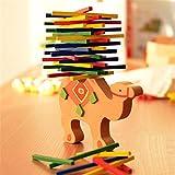 TOOGOO Juguetes para bebes Educativos Camel Balancing Blocks Juguetes de madera Juego de Equilibrio de Madera Montessori Blocks Regalo para Nino