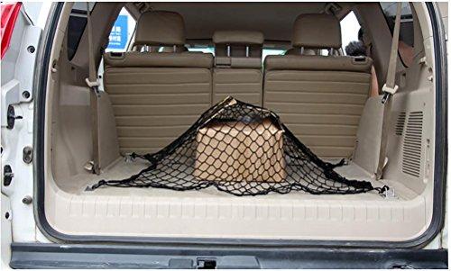 RUIRUI corda cargo rete di carico della rete di storage rete multiuso Bagagliaio posteriore bagagli (Grigio Su Misura Seat Covers)