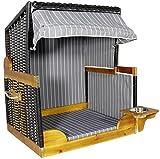 Trendyshop365 Luxus Outdoor Hundestrandkorb für kleine und mittlere Hunde - Trinknapf - Echtholz - 2