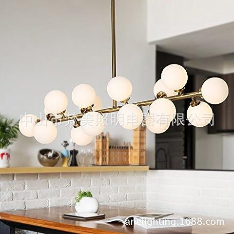 Deco soggiorno di Natale albergo ristorante camera da letto Lampadario LED vetro palla fagioli magici , 16 gold-YU&XIN
