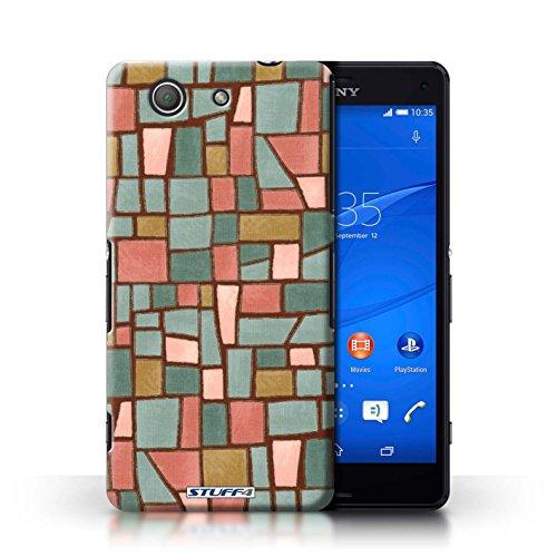 Kobalt® Imprimé Etui / Coque pour Sony Xperia Z3 Compact / Bleu/Turquoise conception / Série Carrelage Mosaïque Rouge/Bleu