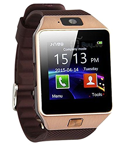 D-D-Accessories-Rose-Gold-Bluetooth-Smart-Watch-DZ09-Phone-With-Camera-and-Sim-Card-SD-Card-Support-With-Apps-like-Facebook-and-WhatsApp-Touch-Screen-Multilanguage-AndroidIOS-Mobile-Phone-Wrist-Watch-