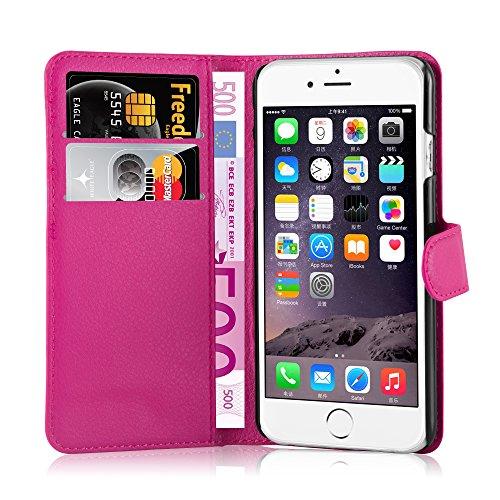Cadorabo - Etui Housse pour Apple iPhone 6 / 6S (4.7 Pouce) - Coque Case Cover Bumper Portefeuille (avec stand horizontale et fentes pour cartes) en ORCHIDÉE VIOLETS ROSE BONBON