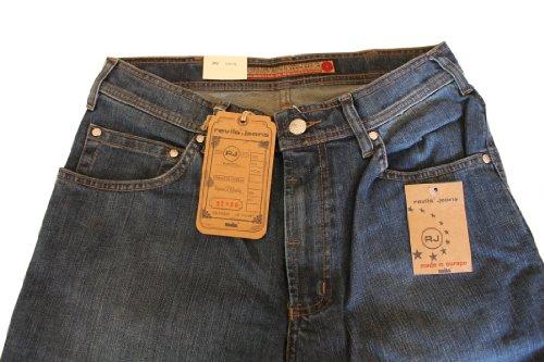 Revils Jeans Hose 342 Stretch, V-2493/8, blue black Blue Black