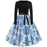 Vectry winterkleid Damen minikleid Kleid wadenlang Elegante Kleider online Shop baumwollkleid ausgefallene Kleider ballonkleid Empire Kleid Sommerkleid weiß konfirmationskleider dunkelblau