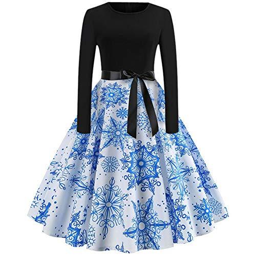 (Vectry winterkleid Damen minikleid Kleid wadenlang Elegante Kleider online Shop baumwollkleid ausgefallene Kleider ballonkleid Empire Kleid Sommerkleid weiß konfirmationskleider dunkelblau)