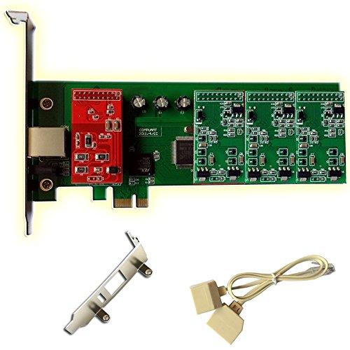 Asterisk Karte mit 1 FXO+3 FXS,2U PCI-E 4-Port Karte,Issabel,AsteriskNow,Freepbx,VoIP Asterisk -