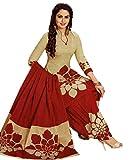 Hotai World Women's Brown Cotton Print Salwar Suits Duppata Dress Material | Cotton Dress Material | Unstitched cotton salwar suit for women