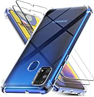 MARGOUN Cases for Samsung Galaxy M31 with 2 Pack Screen Protector, Clear Samsung Galaxy M31 Case Cover, Temper