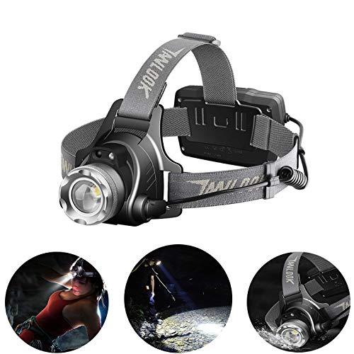 ZLMI Outdoor Angeln Licht, LED Nacht Starke Licht Lade Induktion Long Range 3000 USB Aufladungskopf Taschenlampe