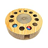 PROKTH Gatto Graffiare Bordo Tampone Carta ondulata Cat Scratch Post Pad di Scratching Cat Con Bell Balls e Catnip