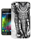 Cellbell LTD c1228 - Aztec Ornate Elephant Funky Design Wiko Ridge Fab 4G Fashion Trend Protecteur Coque Gel Rubber Silicone protection Case Coque