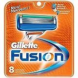Gillette Fusion–Recambios para cuchillas de afeitar (8unidades)