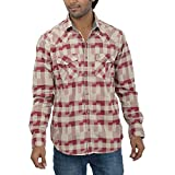 Inego Men's Casual Shirt (Biking Red/Kha...