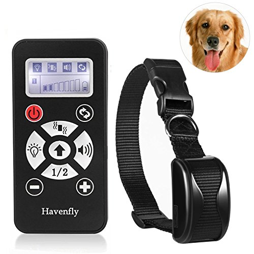 Havenfly Collare per Cani- 800yard Ricaricabile e Impermeabile Collare a Distanza con bip, Vibrazione e Collare elettronico