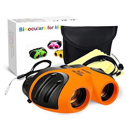 schenk für Mädchen 3-12 Jahre, Kompakt Fernglas Kinder Geschenke für Mädchen ab 3-12 Jahre Geschenke Jungen 3-12 Jahre 3-12 jährige Jungen Spielzeug Geburtstag Orange ()