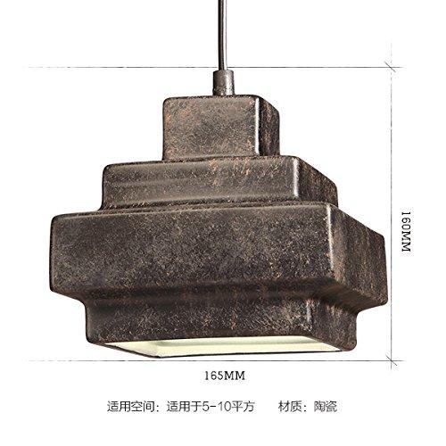 In sum, the loft Retro Bar industrial Restaurant Schlafzimmer mit einem Kopf aus Keramik kleine Kronleuchter, Pyramide