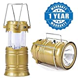 #4: Captcha 6 LED Solar Power Camping Lantern Rechargable Collapsible Night Light (Color May Vary)