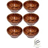 Worthy Fancy Handcraft Wooden Serving Bowl For Salad Snacks , Serving Dishes Bowls, Set Of Decorated Tableware Bowls-Set Of 6