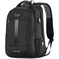 Laptop Backpack Anti-Theft Business Travel Work Computer Rucksack with USB Charging Port, 15.6-17 Inch Water Resistant Large College High School Bags for Boys Men Women