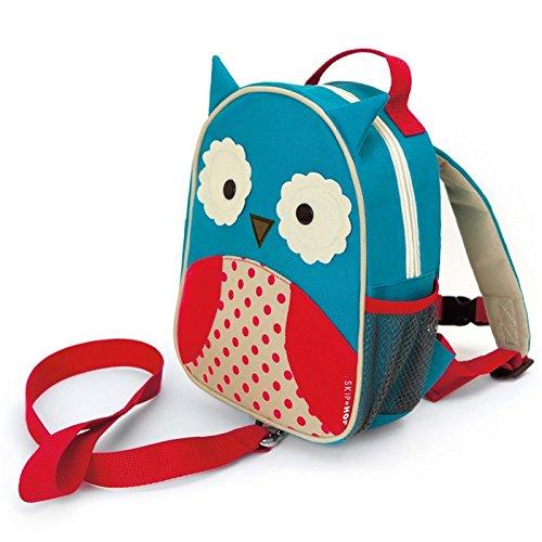 -OWL Kinderrucksack mit Leine, Motiv Eule (Ski-rucksack)