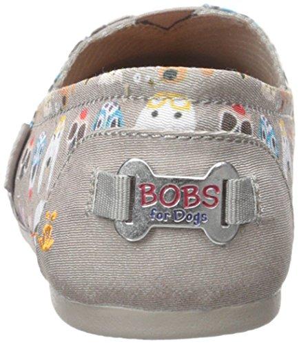 Bobs De Skechers Bobs pour chiens en peluche Slip-on Flat Taupe Pup