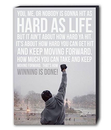 Rocky Balboa berühmten Zitat Leinwand Wand Kunstdruck verschiedene Größen, holz, A1 32X24inch