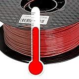 PLA 3D Drucker Filament 1,75mm Farbwechsel Temp. Kaffee zu Rot