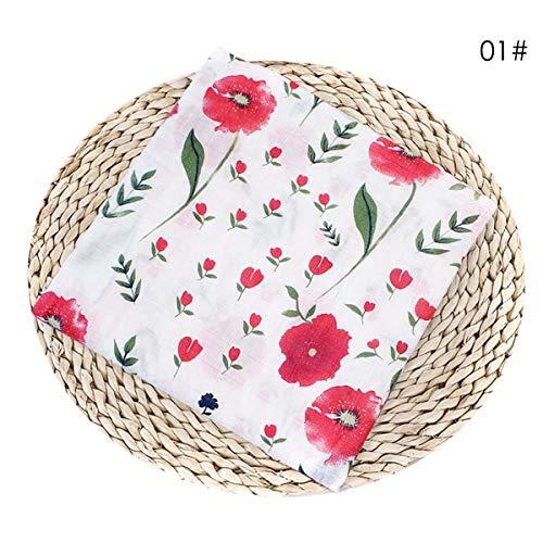 Baby reine Baumwolle duschen Badetuch neugeborenen Babys gewickelt Tuch. (Design : Red cherry blossom) (Blossom Baby-dusche Cherry)