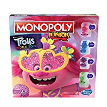Monopoly Junior, DreamWorks Trolls World Tour Edition Board Game for Children Aged 5 and up