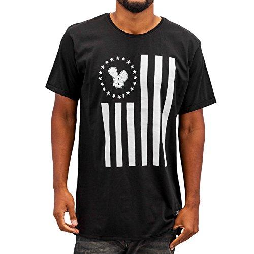 Who Shot Ya? Herren Oberteile / T-Shirt Stars And Stripes Schwarz