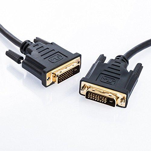 5m DVI Kabel High-Speed| DVI-D 24+1 Dual-Link| Full HD 1080p 1600p | von JAMEGA