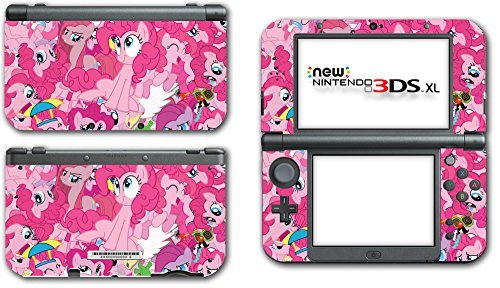My Little Pony Friendship is Magic MLP Pinkie Pie Video Game Vinyl Decal Skin Sticker Cover for the New Nintendo 3DS XL LL 2015 System Console by Vinyl Skin Designs (Pinkie Decal Pie Vinyl)