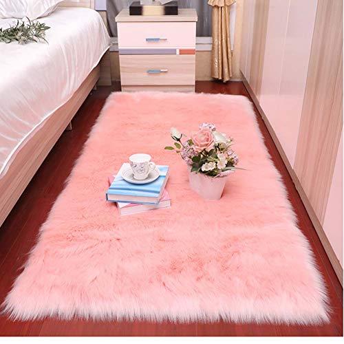 Zmymzm Moderner Shaggy Teppich rutschfest Yoga Teppiche Für Wohnzimmer Schlafzimmer Sofa Boden Waschbar Indoor Outdoor,C,60 * 120cm