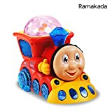 #9: Ramakada Bump and Go Musical Engine Train Toy with 4D Light and Sound, Multi Color