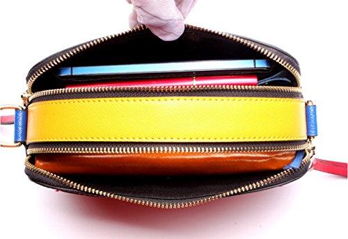 Echtes Leder Hit Farbe Mini Einzelne Schulter-Umhängetasche-Handtasche Für Frauen WineRed