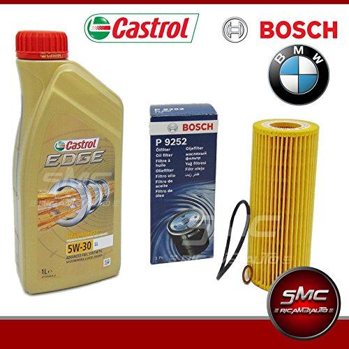 Castrol 8-Liter-Motor Öl Edge 5W30 + Ölfilter Bosch 1457429252