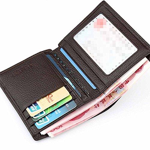 Handgefertigte Echtleder Klassische Herren Brieftasche Mit Fotokarten ID Tasche Zu Halten D