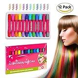 Best Tizas para el cabello - Tiza de Pelo, BELLESTYLE 12 Coloridas Plumas Temporal Review