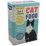 Vorratsdose XL Futterbox für Katze - Futter aufbewahrung Katzenfutter futter container aus Aluminum - mit klappbaren Deckel - 24,8 x 18 x 10 cm - bis zu 4 Liter