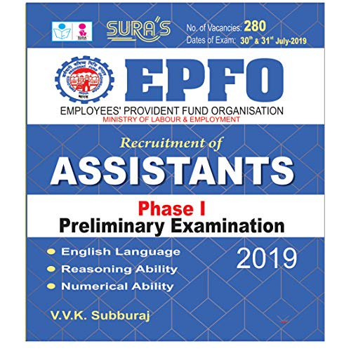 EPFO Assistants Phase I Preliminary Exam Books